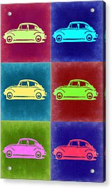 Vw Beetle Pop Art 2 Acrylic Print by Naxart Studio
