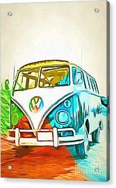 Vw Bus Pop Art 5 Acrylic Print
