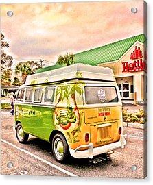 Vw Bus Stop Acrylic Print by Will Burlingham