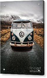 Vw Camper Glen Etive Acrylic Print