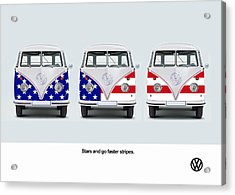 Vw Go Faster Stripes Acrylic Print