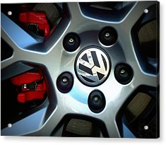 Vw Gti Wheel Acrylic Print