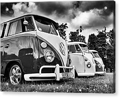 Vw Splitties Monochrome Acrylic Print