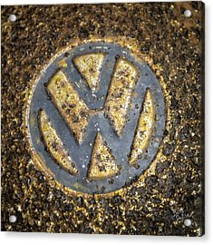 Vw - Volkswagon Hubcap Acrylic Print