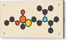 Vx Nerve Agent Molecule Acrylic Print