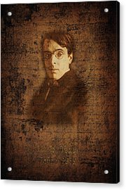 W. B. Yeats Acrylic Print by Andrew Fare