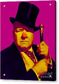 W C Fields 20130217 Acrylic Print by Wingsdomain Art and Photography