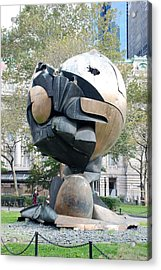 W T C Fountain Sphere Acrylic Print by Rob Hans