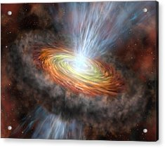 W33a Protostar Accretion Disc, Artwork Acrylic Print by Science Photo Library
