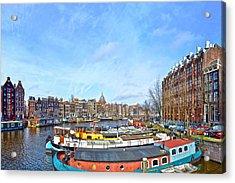 Waalseilandgracht Amsterdam Acrylic Print