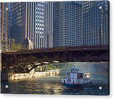 Acrylic Print featuring the photograph Wabash Street Bridge by John Hansen