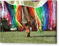 Wacipi Fancy Dancer Acrylic Print by Heidi Hermes