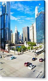 Wacker And State  Acrylic Print
