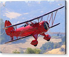 Acrylic Print featuring the photograph Waco Ymf Up Close N685af by John King