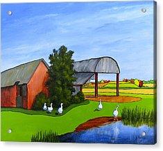 Waddle Pond Acrylic Print by Jo Appleby