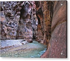 Wadi Mujib Acrylic Print by David Gleeson