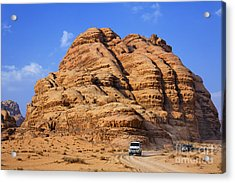Wadi Rum In Jordan Acrylic Print by Robert Preston