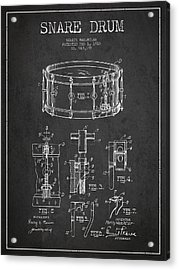 Waechtler Snare Drum Patent Drawing From 1910 - Dark Acrylic Print