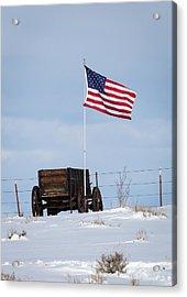 Wagon And Flag Acrylic Print