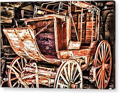 Acrylic Print featuring the painting Wagon by Muhie Kanawati