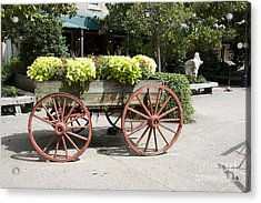 wagon of flowers on Julian Street Acrylic Print