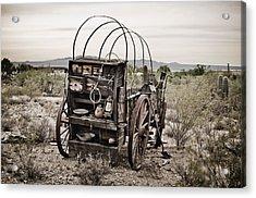 Wagon Acrylic Print by Swift Family