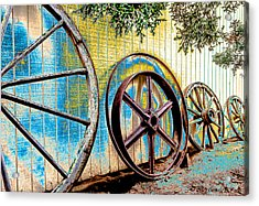 Acrylic Print featuring the photograph Wagon Wheel Art by Beverly Parks