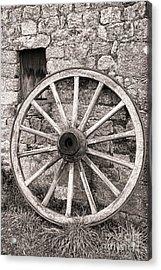 Wagon Wheel Acrylic Print by Olivier Le Queinec