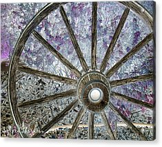 Acrylic Print featuring the photograph Wagon Wheel Study 1 by Sylvia Thornton