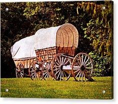 Wagons Ho Acrylic Print by Marty Koch