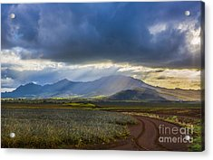 Waianae Mountains Of Oahu Hawaii Acrylic Print by Diane Diederich