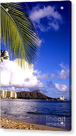 Waikiki Beach Diamond Head Acrylic Print