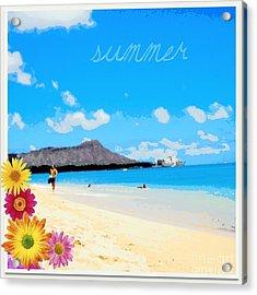 Acrylic Print featuring the photograph Waikiki Beach by Mindy Bench