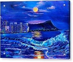 Waikiki Lights Acrylic Print
