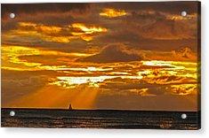 Waikiki Sun Set Acrylic Print