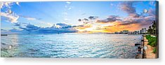 Waikiki Sunset After An Afternoon Thunderstorm Acrylic Print