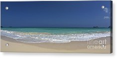 Waimanalo Beach Acrylic Print by Anthony Calleja