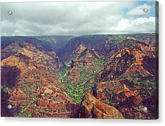Waimea Canyon Acrylic Print by Mary Bedy