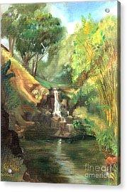 Waimea Falls Oahu Hawaii - 1970 Acrylic Print