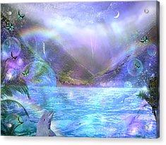 Waimia Dolphin Acrylic Print
