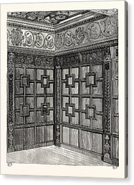 Wainscot And Pargetry, Carbrooke Hall, A Historic House Acrylic Print by English School