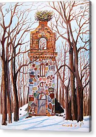 Waiting At Church Ruins  Acrylic Print