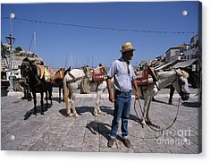 Waiting For A Ride Acrylic Print by George Atsametakis