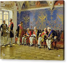 Waiting For An Audience Acrylic Print by Vladimir Egorovic Makovsky