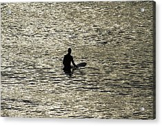 Waiting For An Early Morning Wave Acrylic Print by Noel Elliot