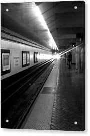 Waiting For Bart -black And White Acrylic Print