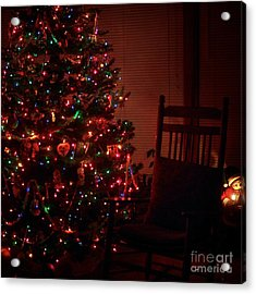 Waiting For Christmas - Square Acrylic Print