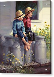Waiting For Mama Acrylic Print by Laurie Hein