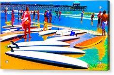 Waiting For Surf Acrylic Print
