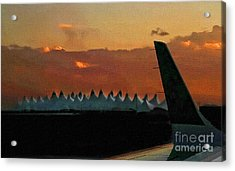Waiting For Take-off Acrylic Print by Clare VanderVeen